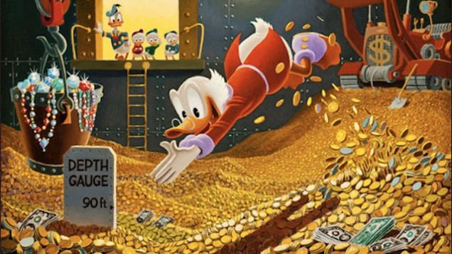 Scrooge McDuck swimming pool
